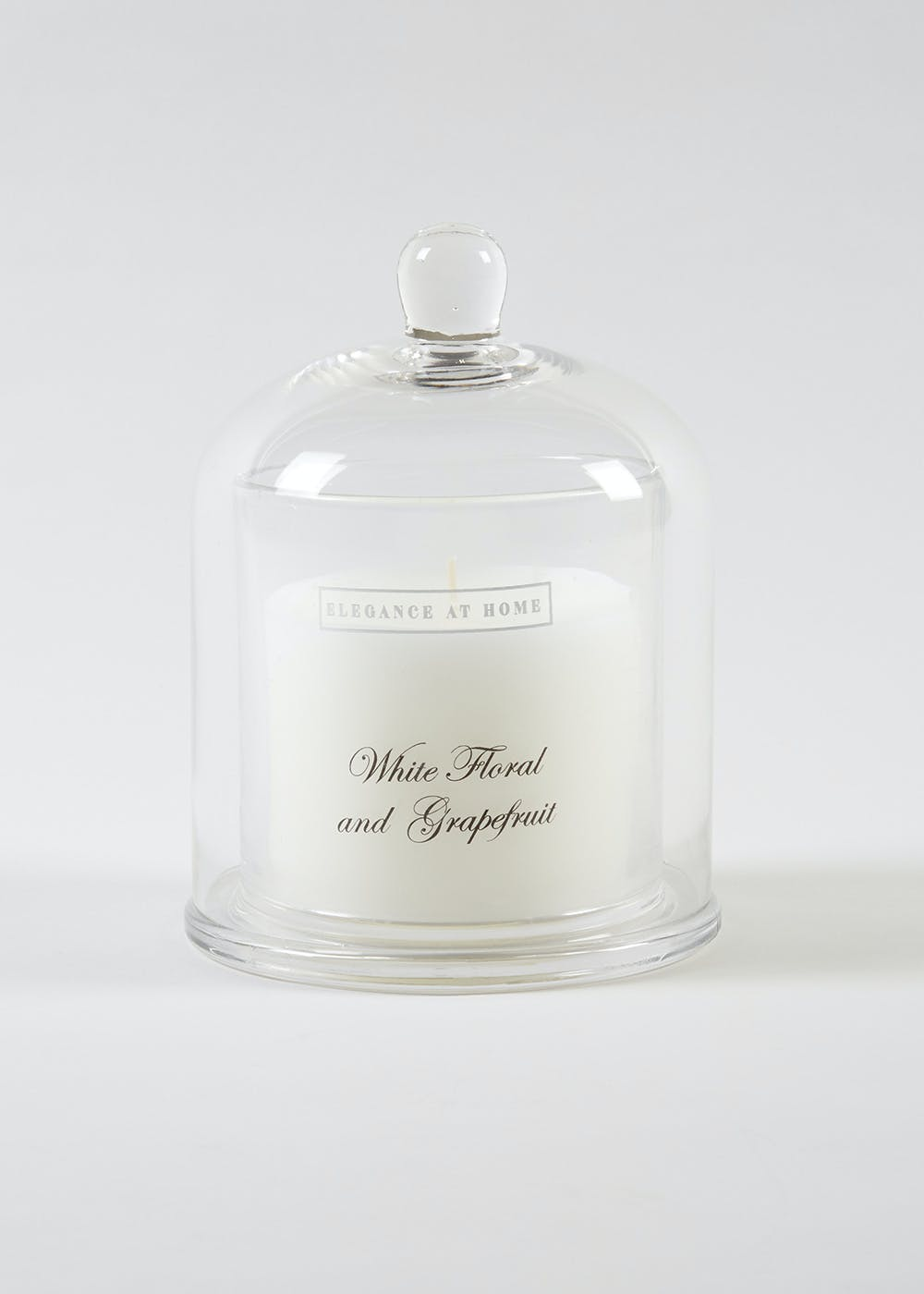 White Floral & Grapefruit Scented Candle by Matalan
