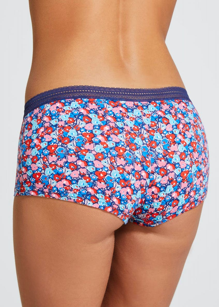 Floral Boxer Knickers