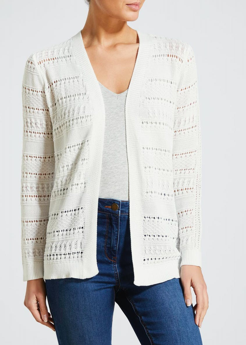 Pointelle Edge to Edge Cardigan