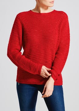 Slub Pointelle Jumper