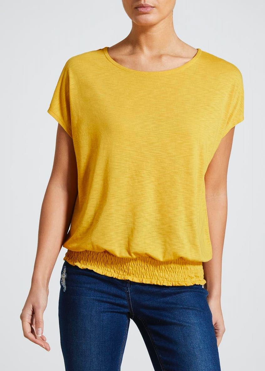 Shirred Hem T-Shirt