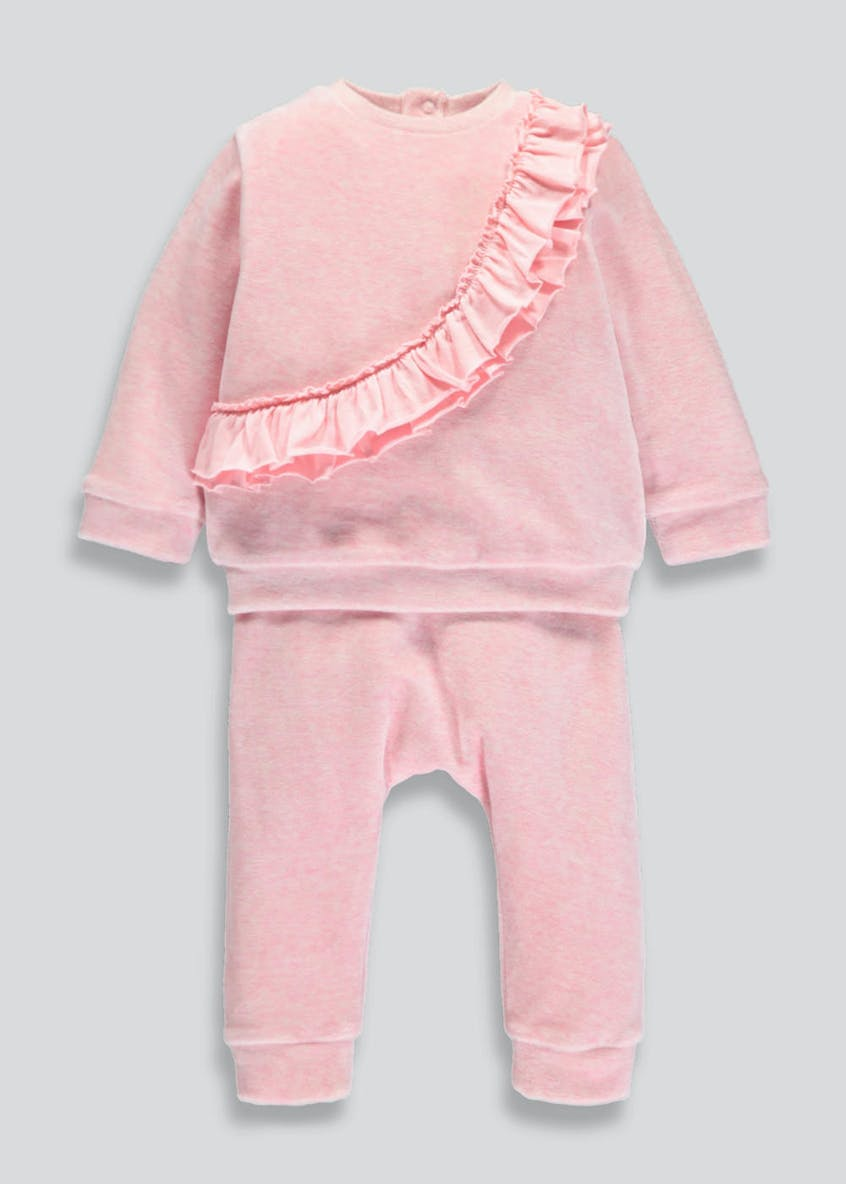 Girls Velour Jogging Set (Newborn-18mths)