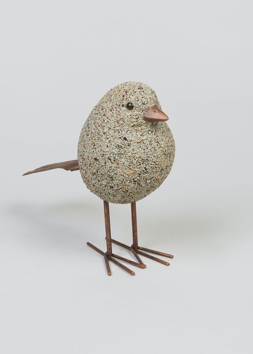 Stone Bird Ornament (15cm x 11cm x 7cm)