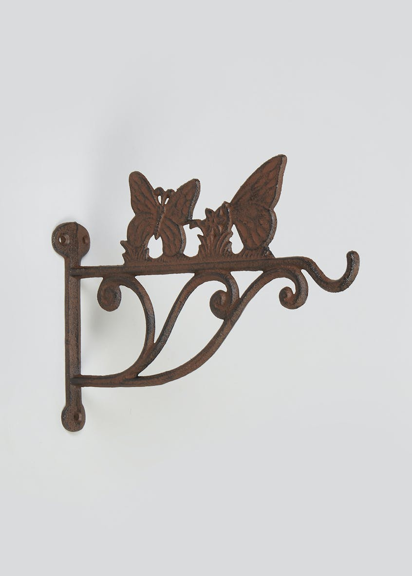 Cast Iron Butterfly Wall Plant Holder (26cm x 20cm)