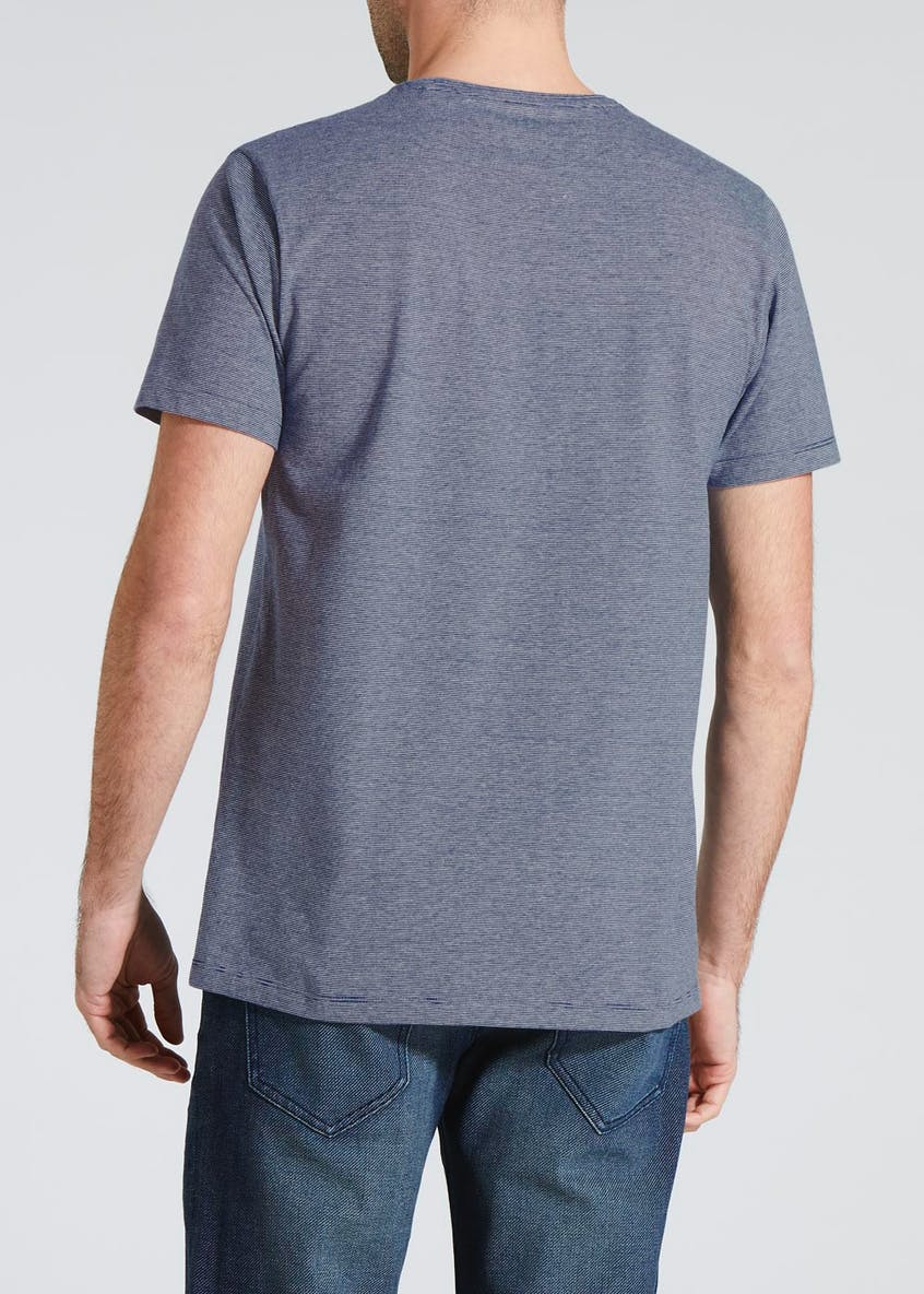 Basic Fine Stripe Crew Neck T-Shirt