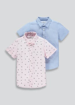 5c480f80da4a5 Boys 2 Pack Shirts (4-13yrs)