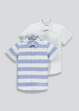 Boys 2 Pack Short Sleeve Shirts (4-13yrs)