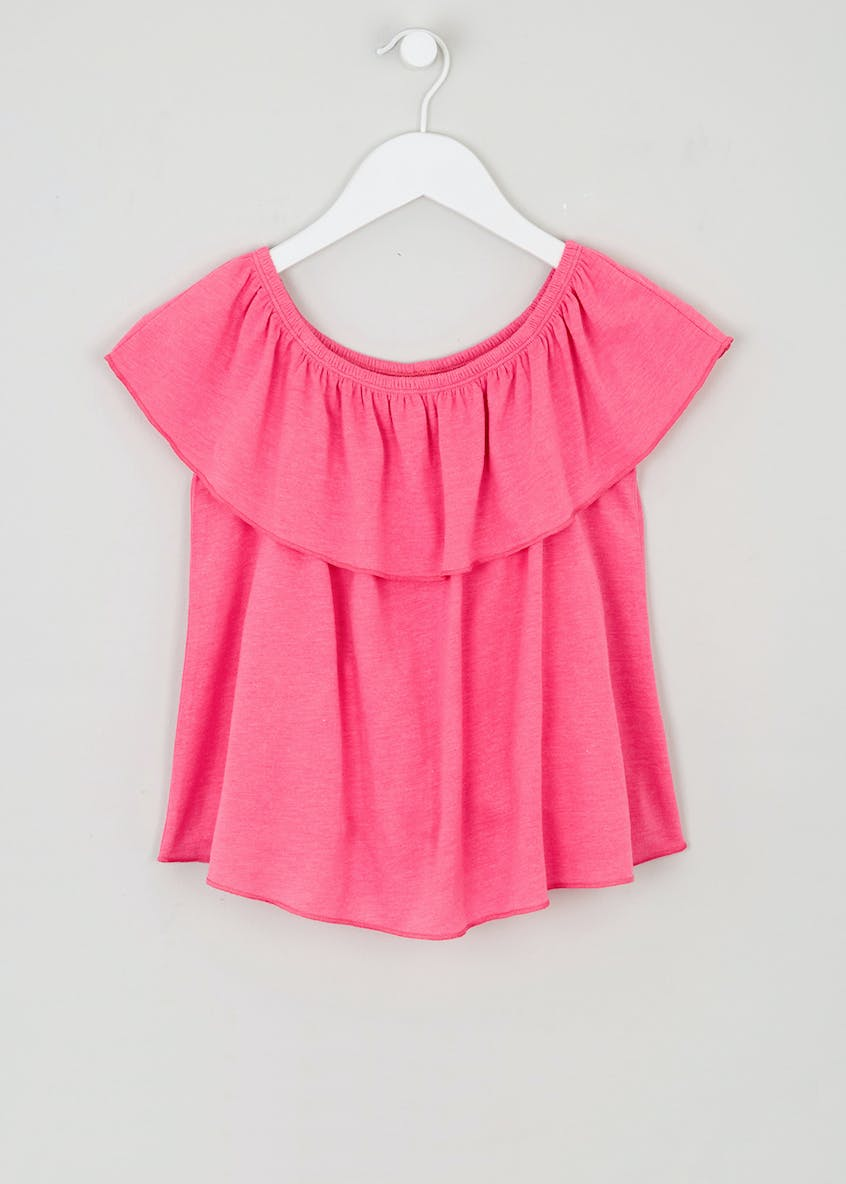 Girls Candy Couture Frill Bardot Top (9-16yrs)