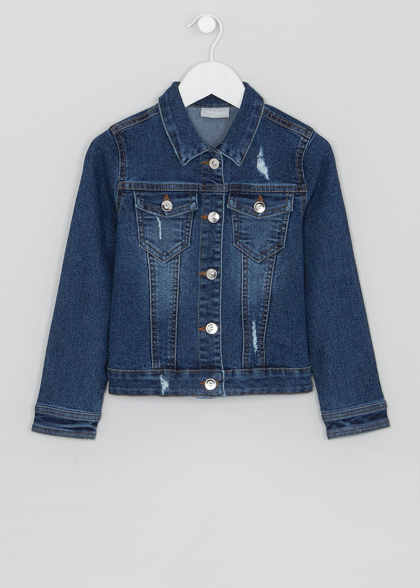 Girls Mid Wash Denim Jacket (4-13yrs)