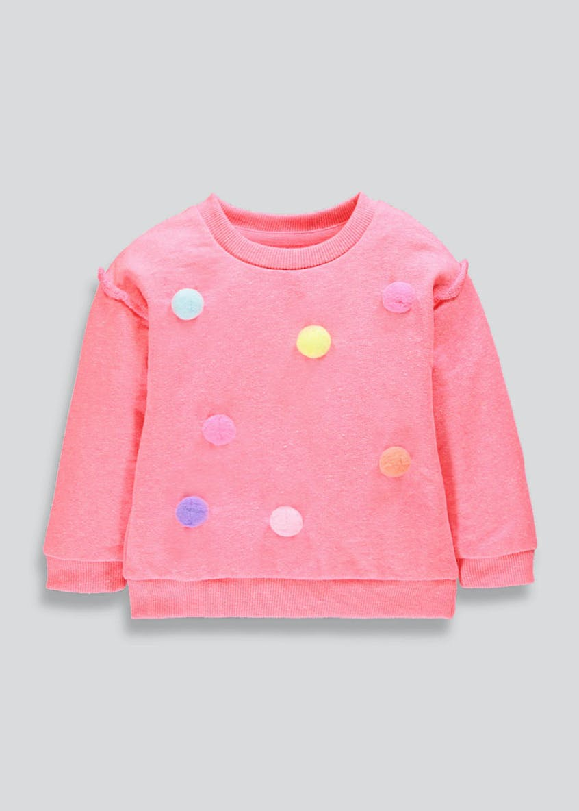 Girls Pom Pom Sweatshirt (9mths-6yrs)