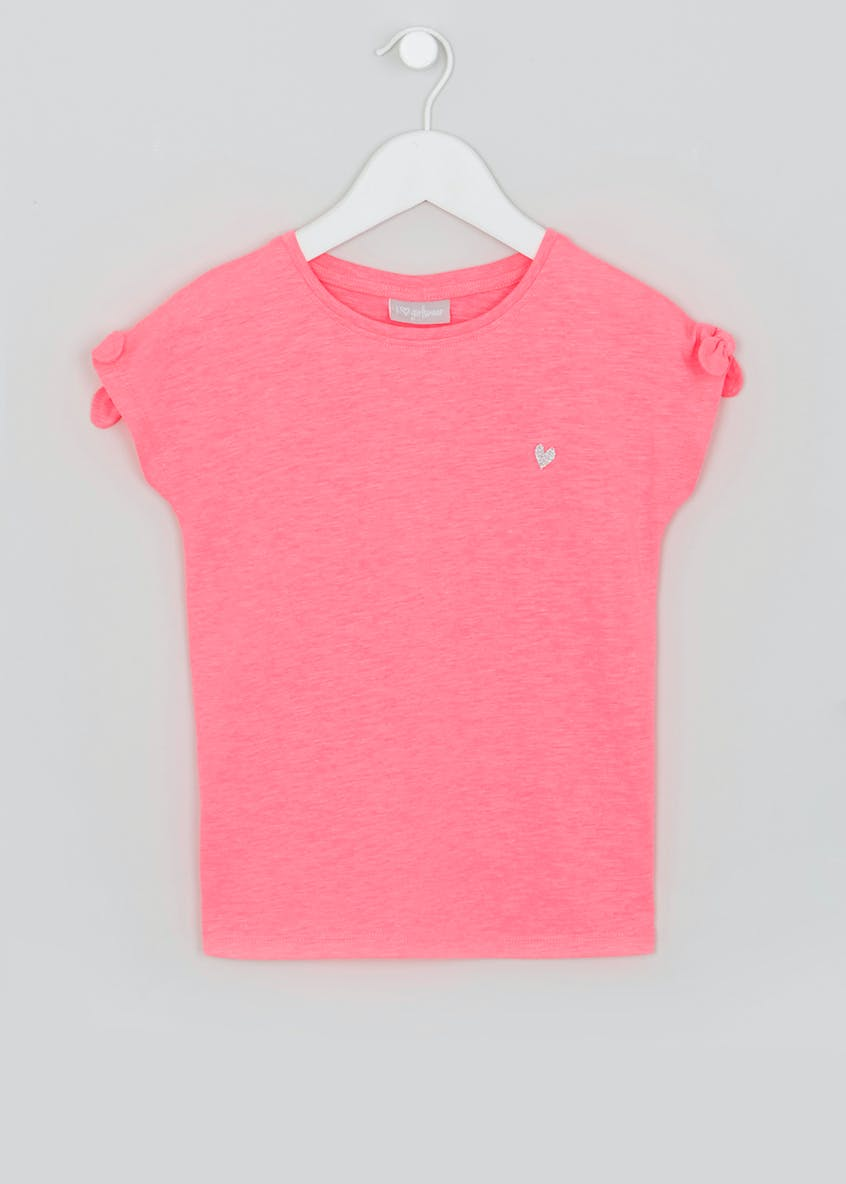 Girls Knot Sleeve T-Shirt (4-13yrs)