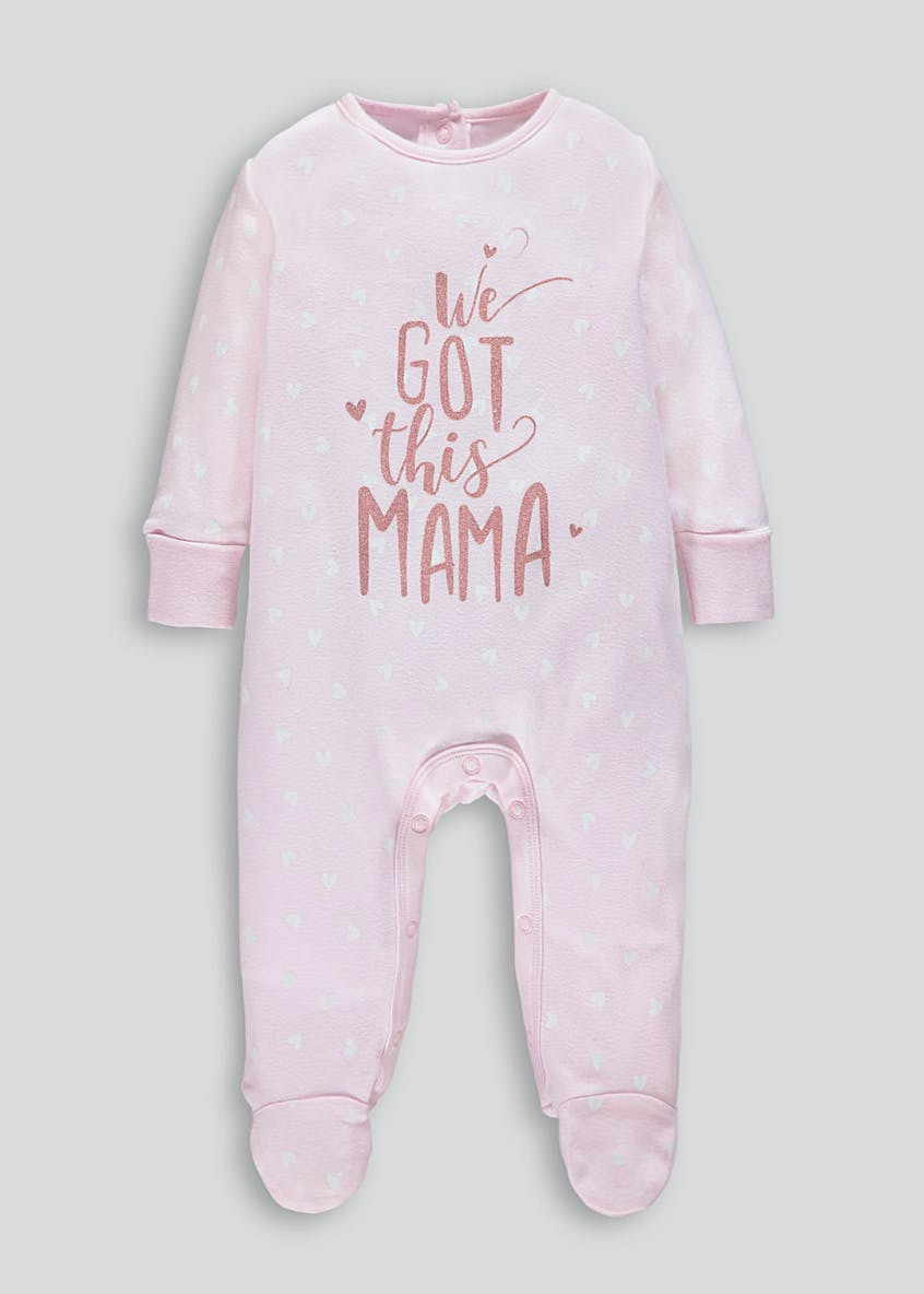 Unisex Mama Slogan Baby Grow (Tiny Baby-12mths)