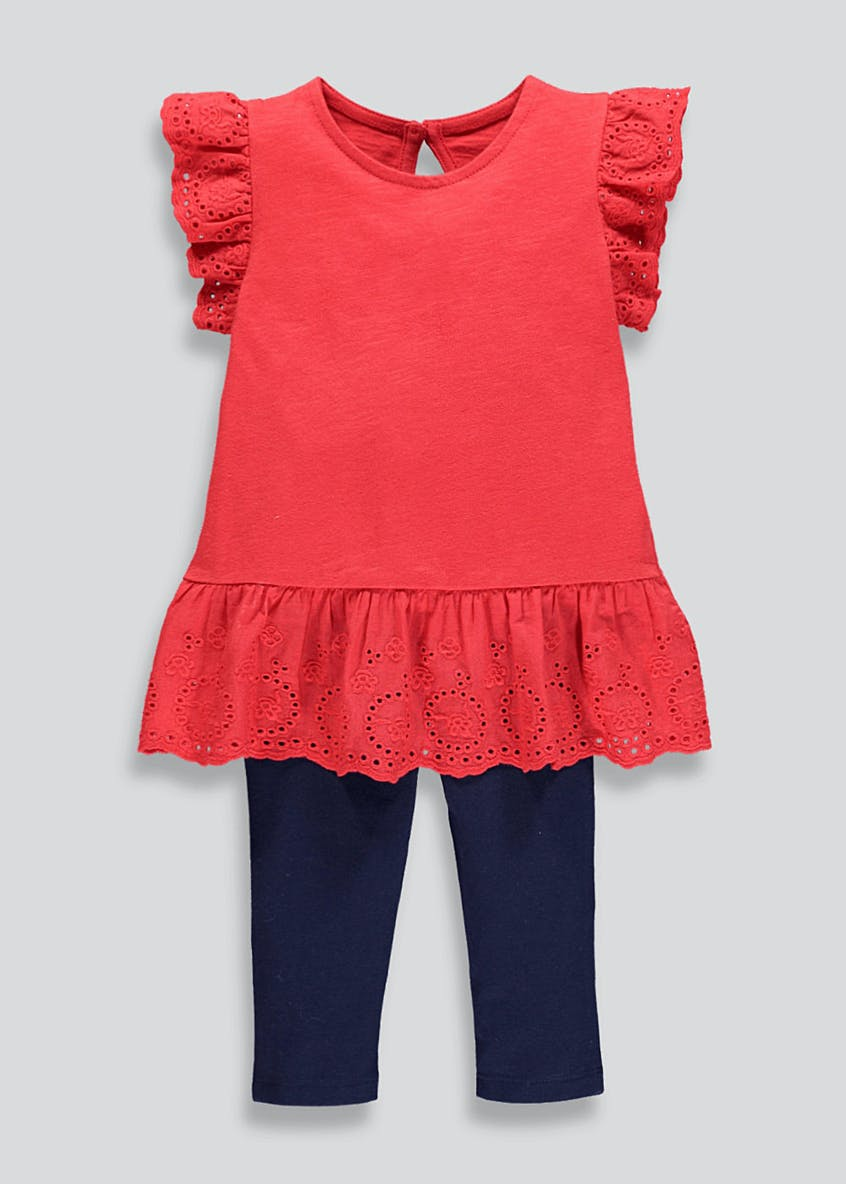 Girls Broderie Anglaise Top & Leggings (9mths-6yrs)