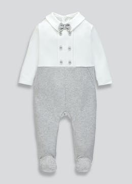 Unisex Bow Tie Baby Grow (Tiny Baby-12mths)