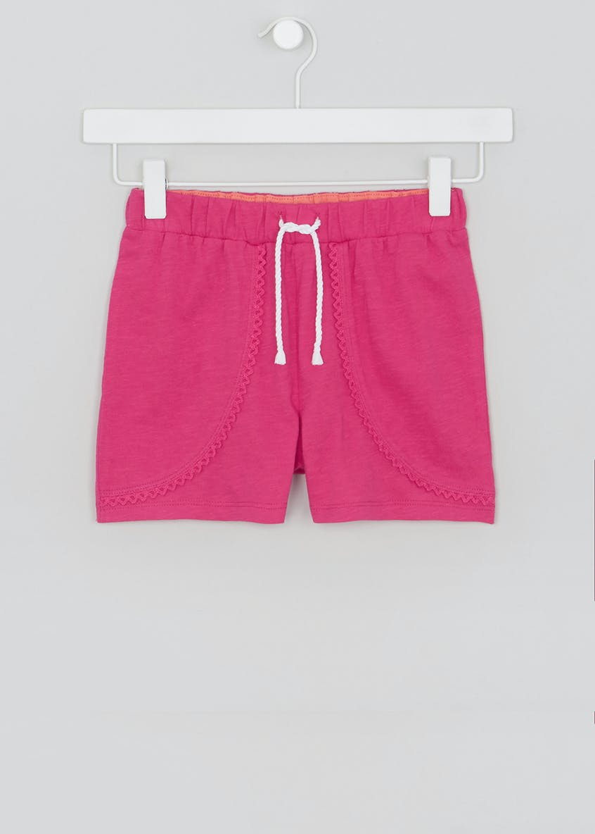 Girls Lace Trim Shorts (4-13yrs)