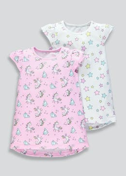 Kids 2 Pack Unicorn Nighties (9mths-5yrs) 349c0c3e8