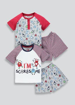 Kids 2 Pack Football Pyjamas (9mths-5yrs)