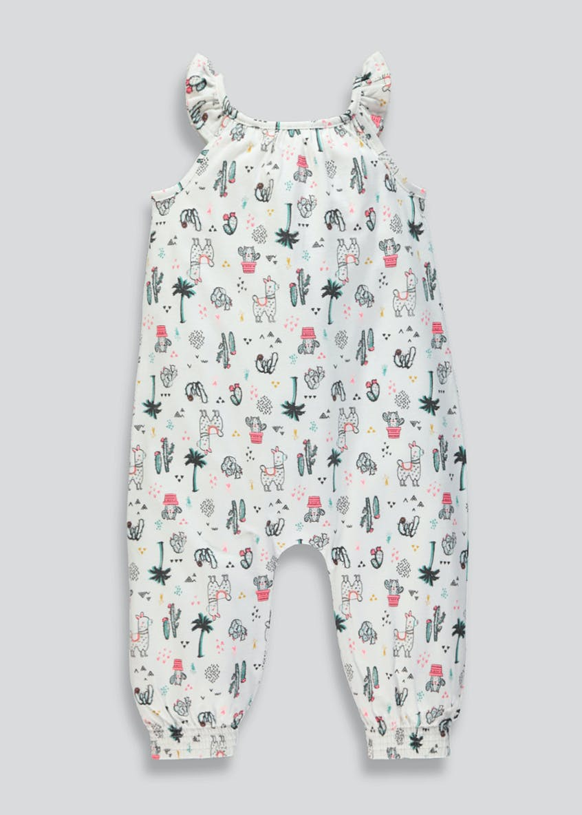 Girls Llama Print Jumpsuit (9mths-6yrs)