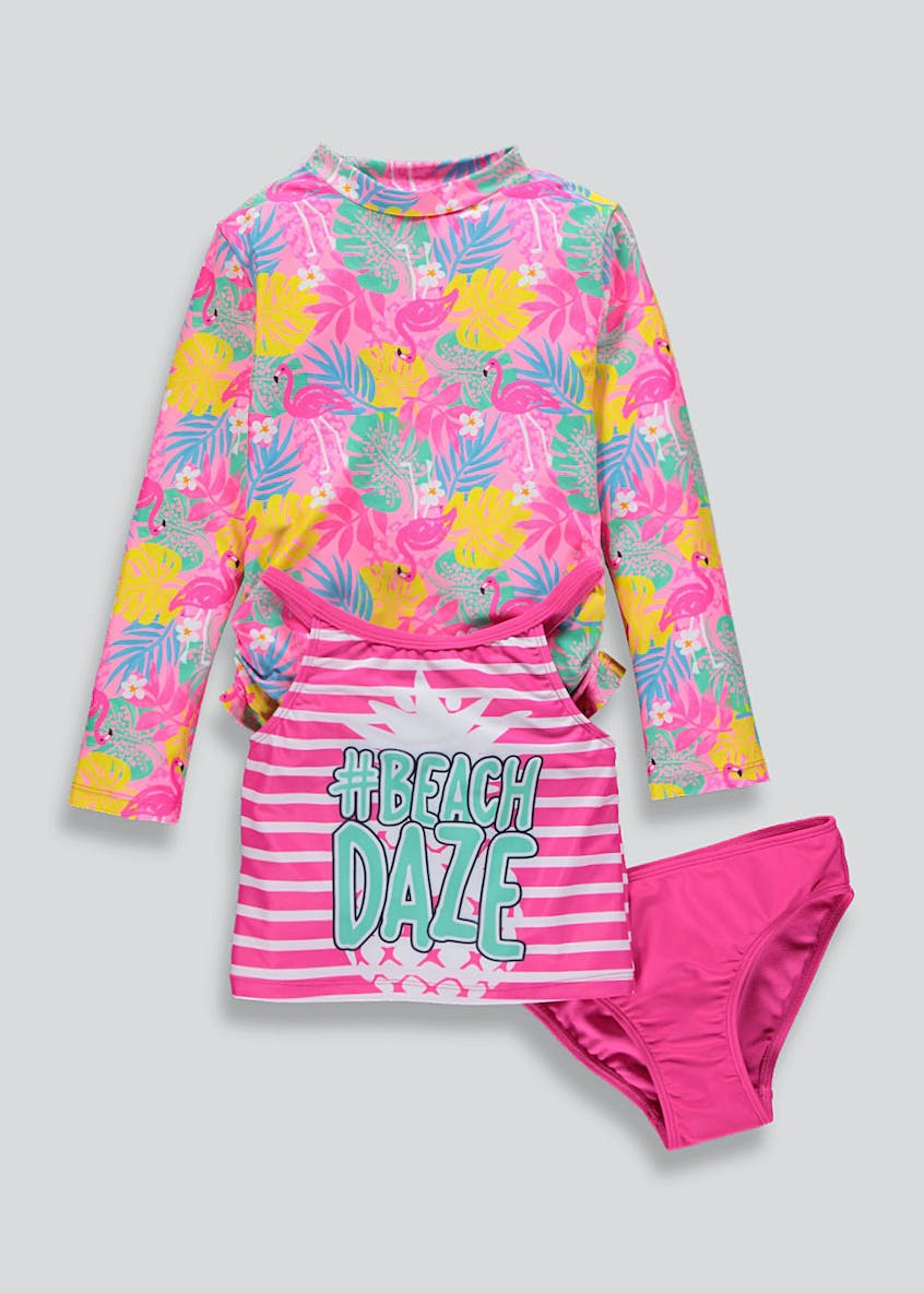 Girls 3 Piece Swimwear Set (4-13yrs)