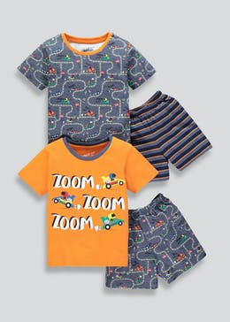 Kids 2 Pack Car Pyjamas (9mths-5yrs)