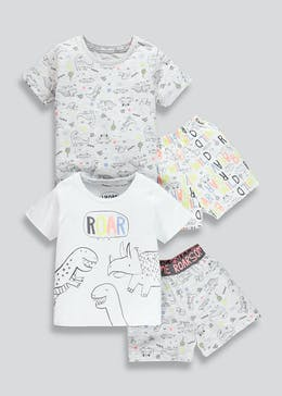 Kids 2 Pack Dinosaur Pyjamas (9mths-5yrs)
