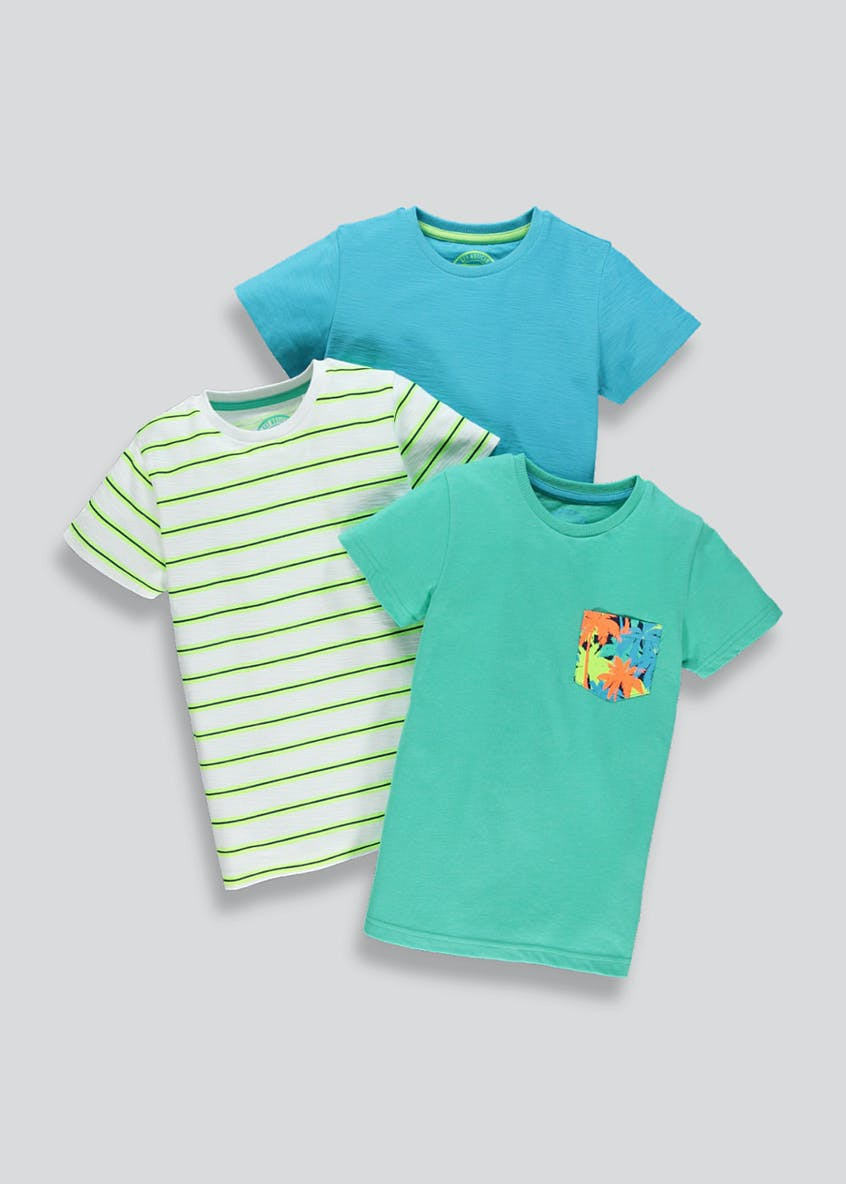 Kids 3 Pack T-Shirts (4-13yrs)
