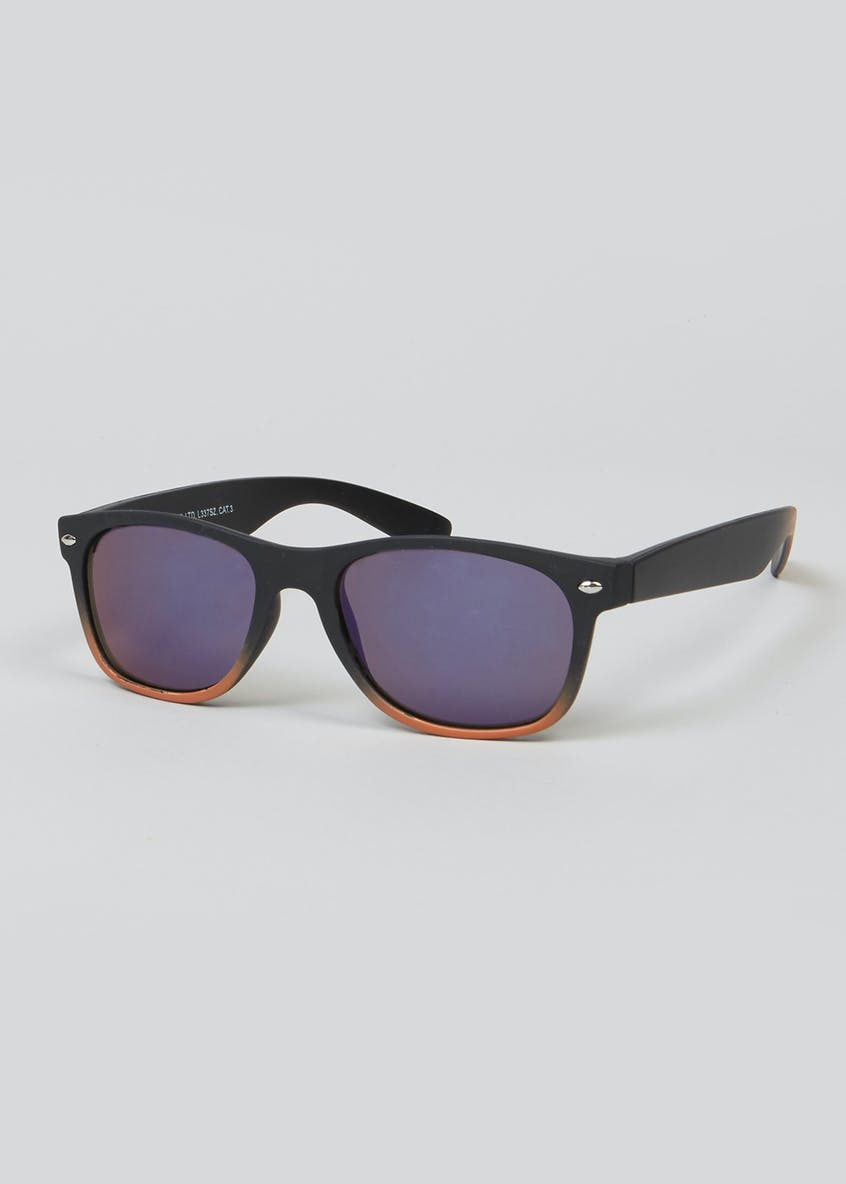Kids Two-Tone Wayfarer Sunglasses (One Size)