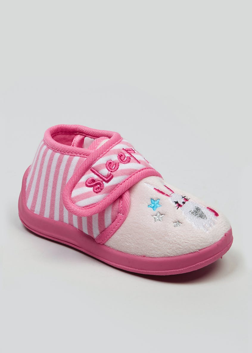 Kids Co-Ord Sleepy Bunny Slippers (Younger 4-12)