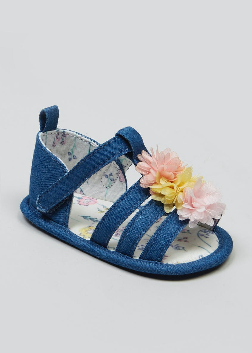 Girls Soft Sole Baby Sandals (Newborn-18mths)