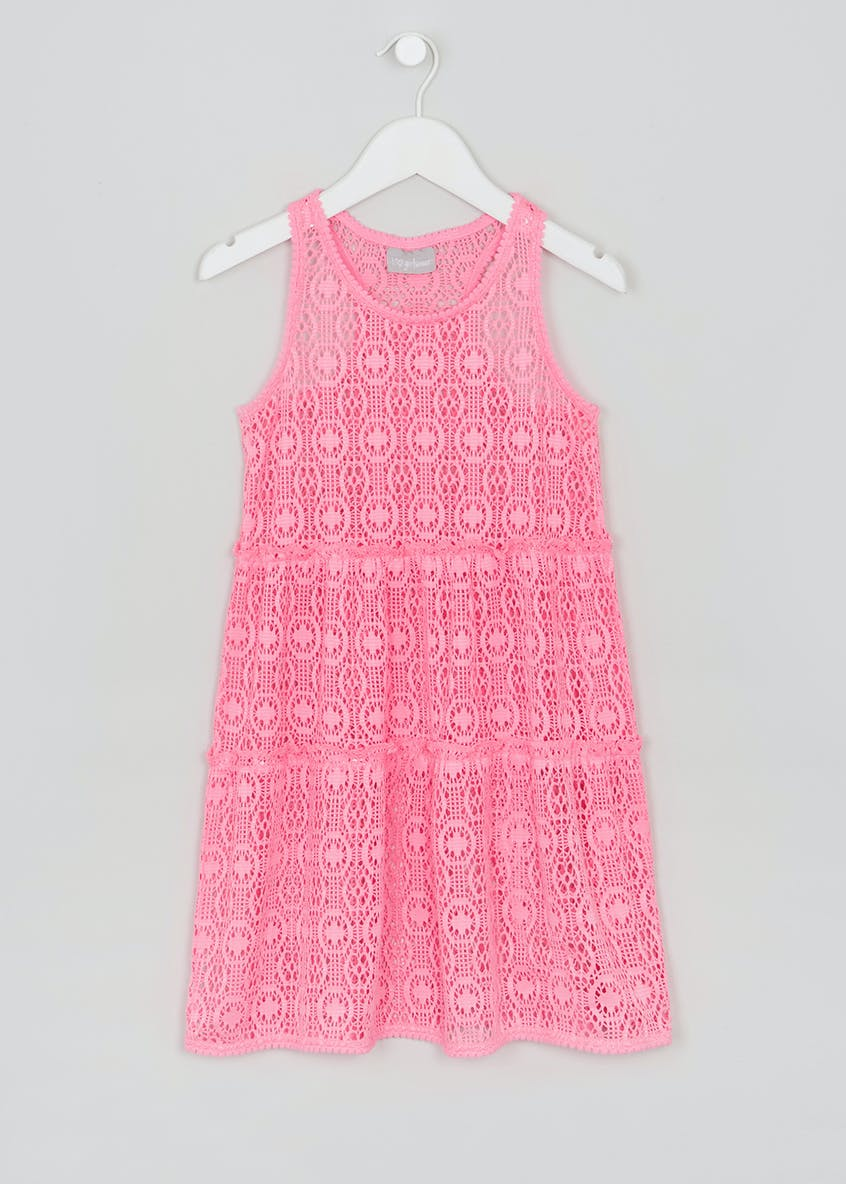 Girls Tiered Crochet Dress (4-13yrs)