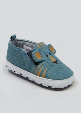 Unisex Tiger Soft Sole Canvas Baby Shoes (Newborn-18mths)