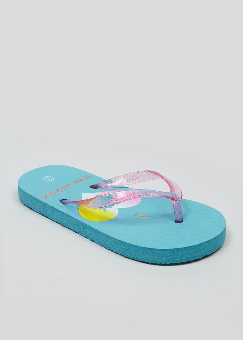 Kids Unicorn Flip Flops (Younger 10-Older 5)