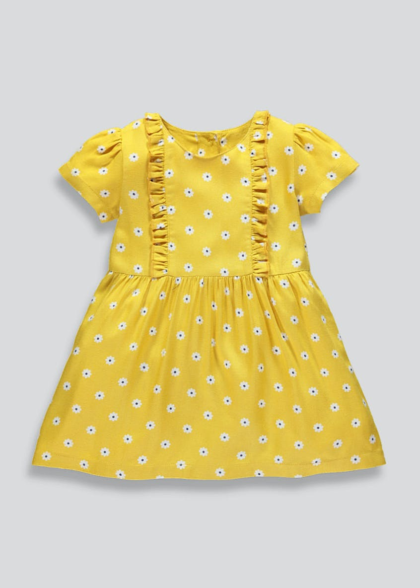 Girls Floral Viscose Dress (9mths-6yrs)