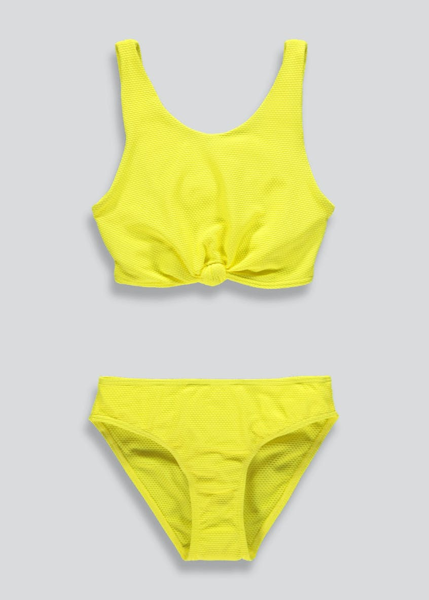 Girls Candy Couture Knot Front Bikini Set (9-16yrs)