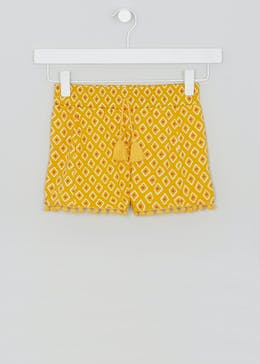 Girls Printed Pom Pom Shorts (4-13yrs)