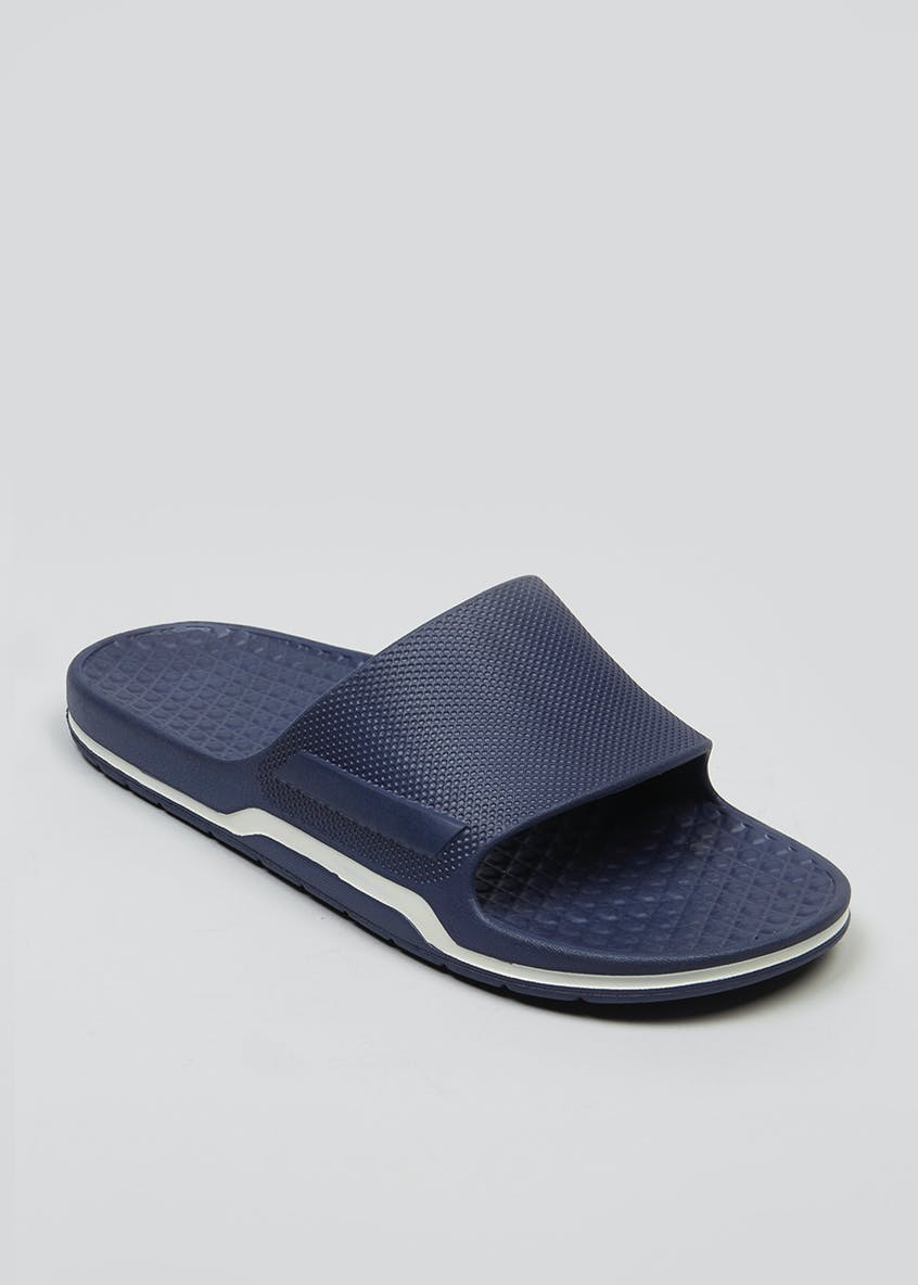 US Athletic Navy Pool Sliders