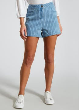 Stripe Denim Shorts