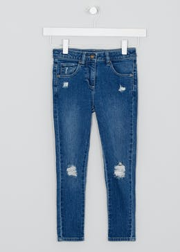 Girls Indigo Wash Ripped Skinny Jeans (4-13yrs)