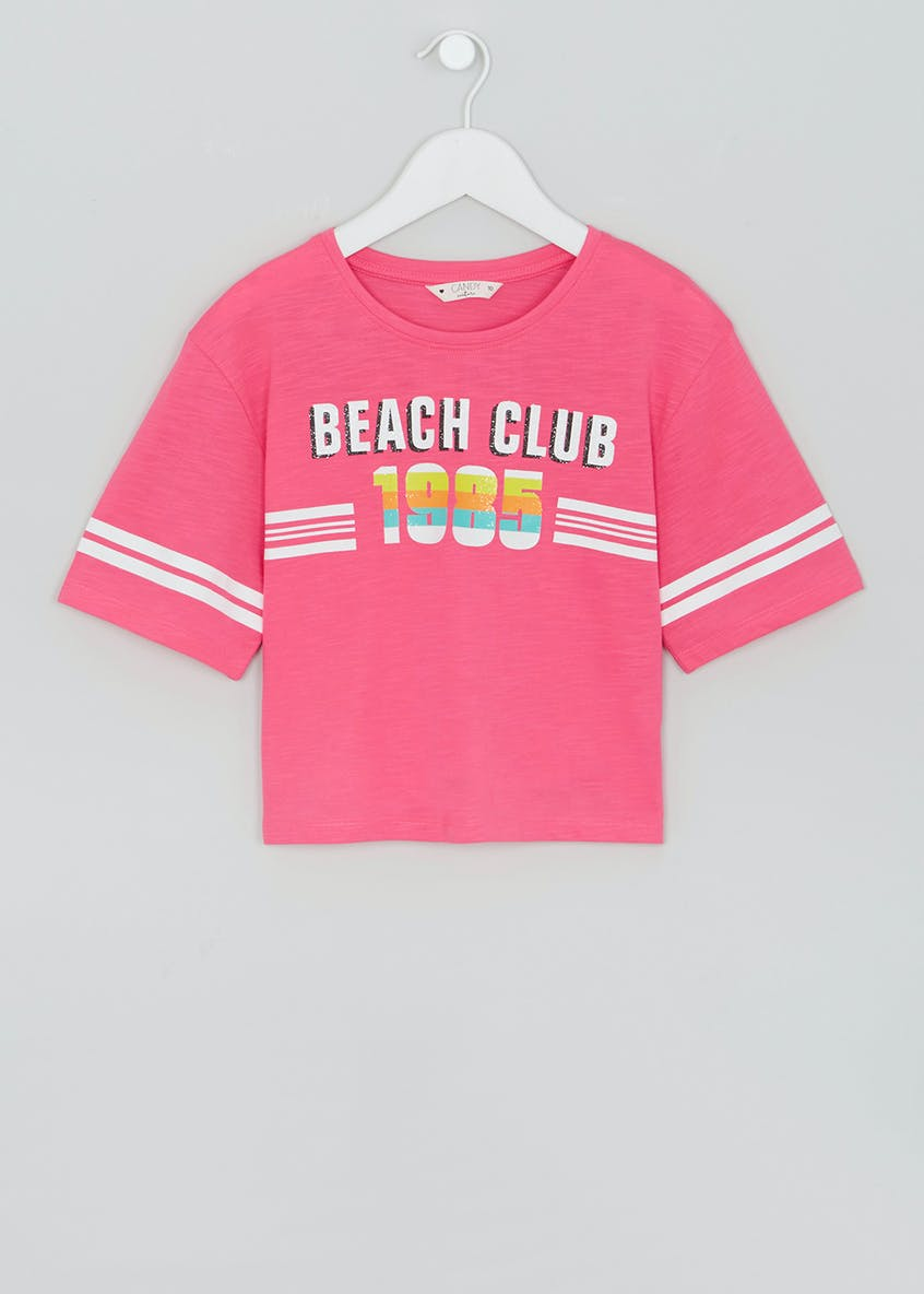 Girls Candy Couture Cropped T-Shirt (9-16yrs)