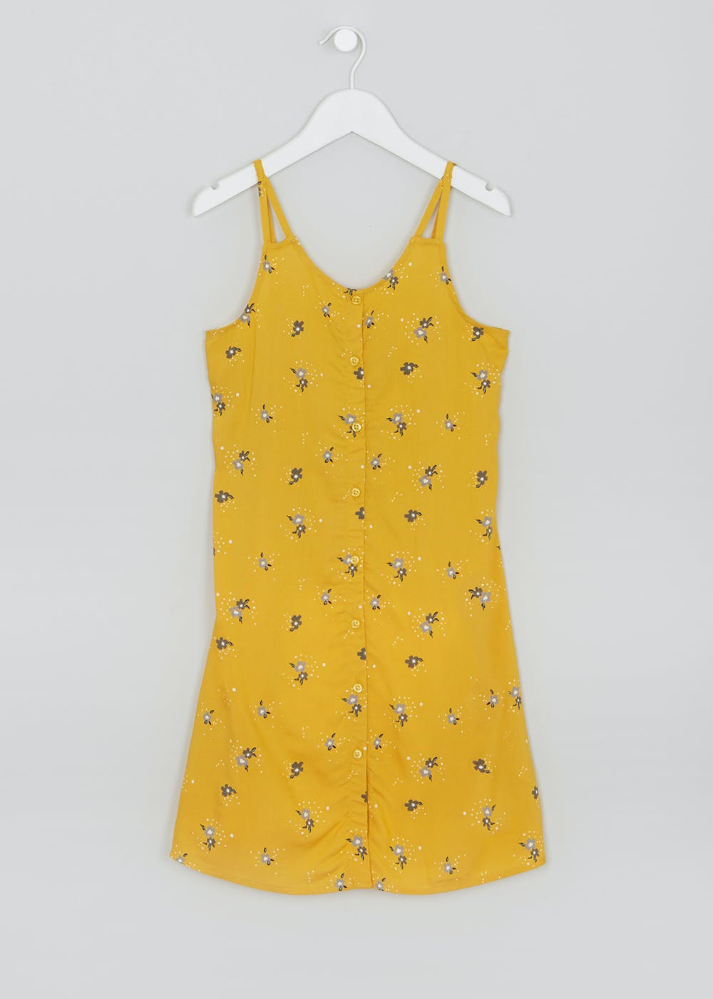 11db09447be4b1 Girls Candy Couture Button Front Dress (9-16yrs) – Yellow – Matalan
