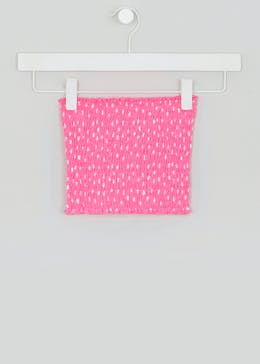 Girls Candy Couture Spot Shirred Bandeau Boob Tube (9-16yrs)