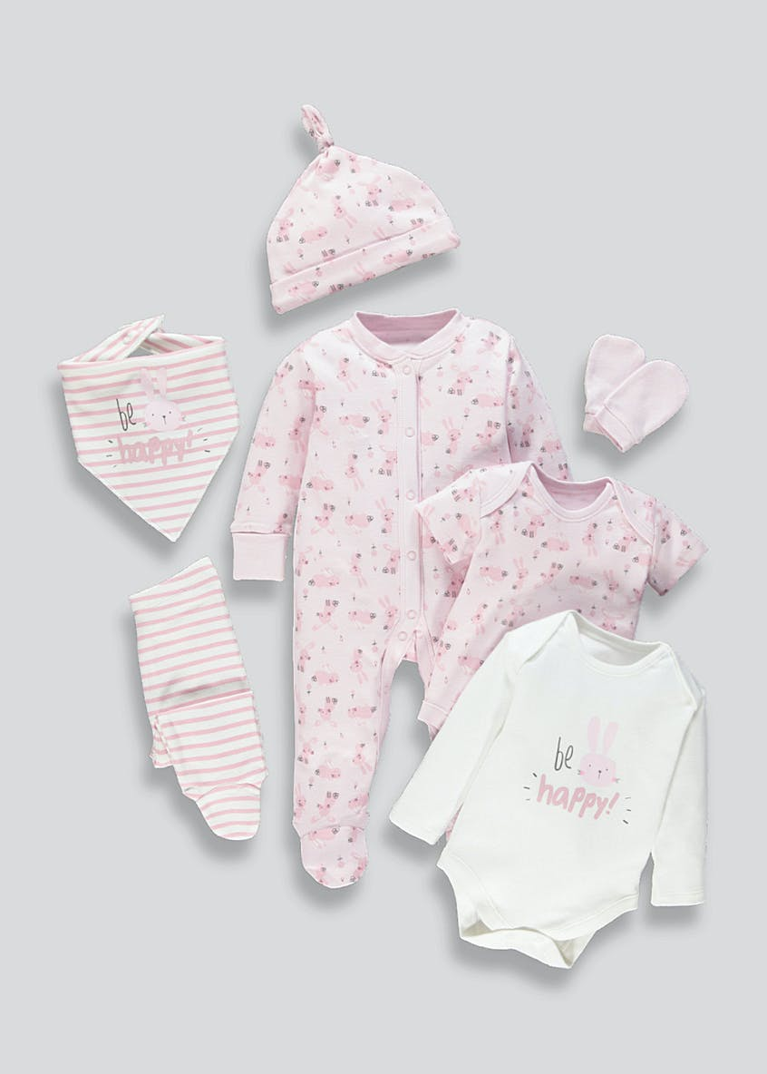 Girls 7 Piece Set (Tiny Baby-9mths)