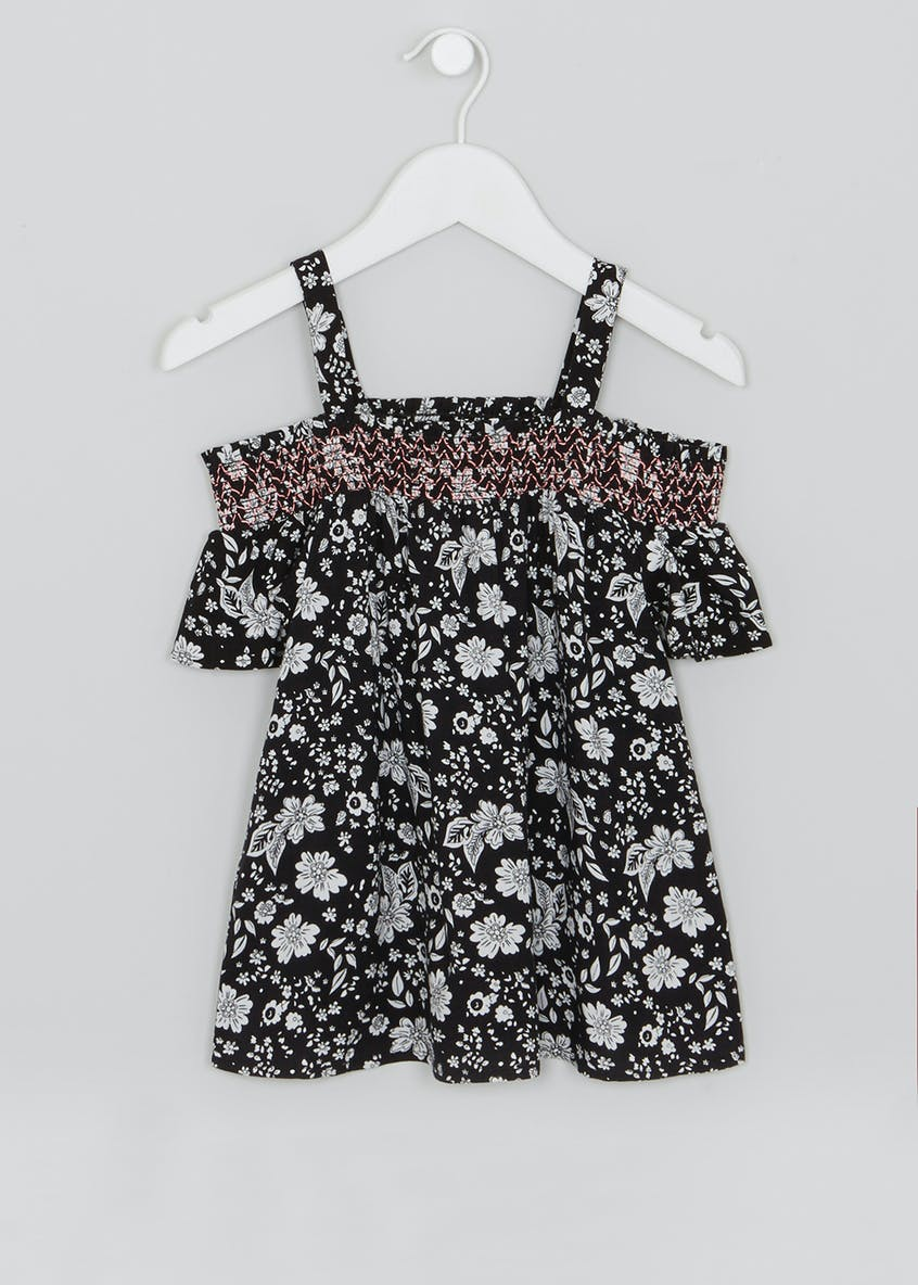 Girls Floral Bardot Top (4-13yrs)