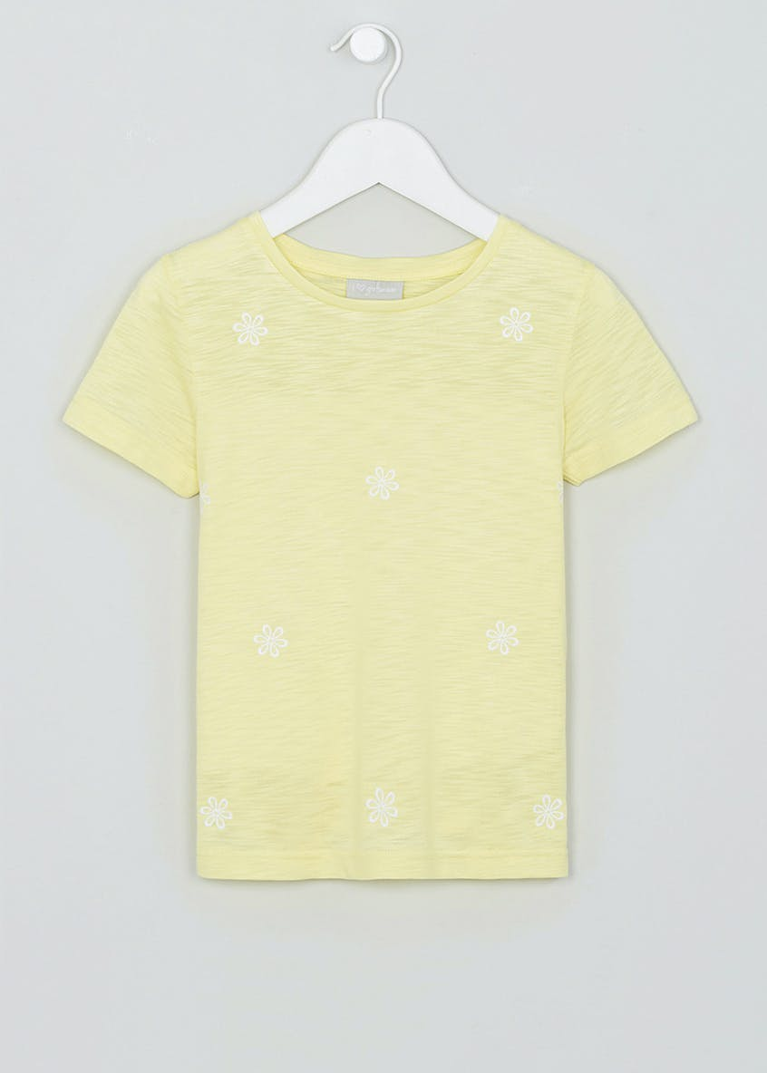 Girls Floral Embroidered T-Shirt (4-13yrs)