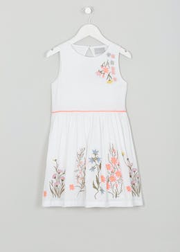 Girls Embroidered Dress (4-13yrs)