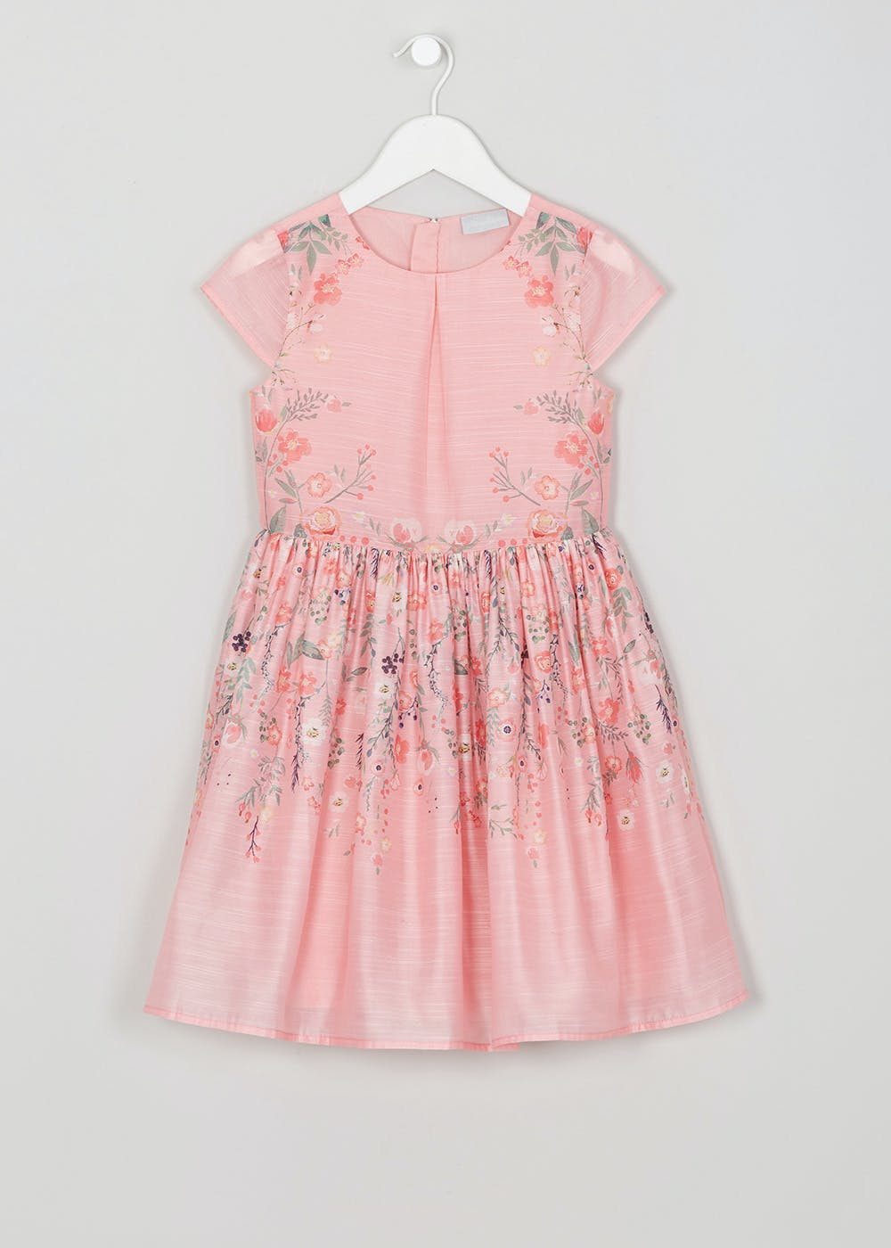 26ad0a2c1e53 Mini Me Girls Floral Occasion Dress (4-13yrs) – Pink – Matalan