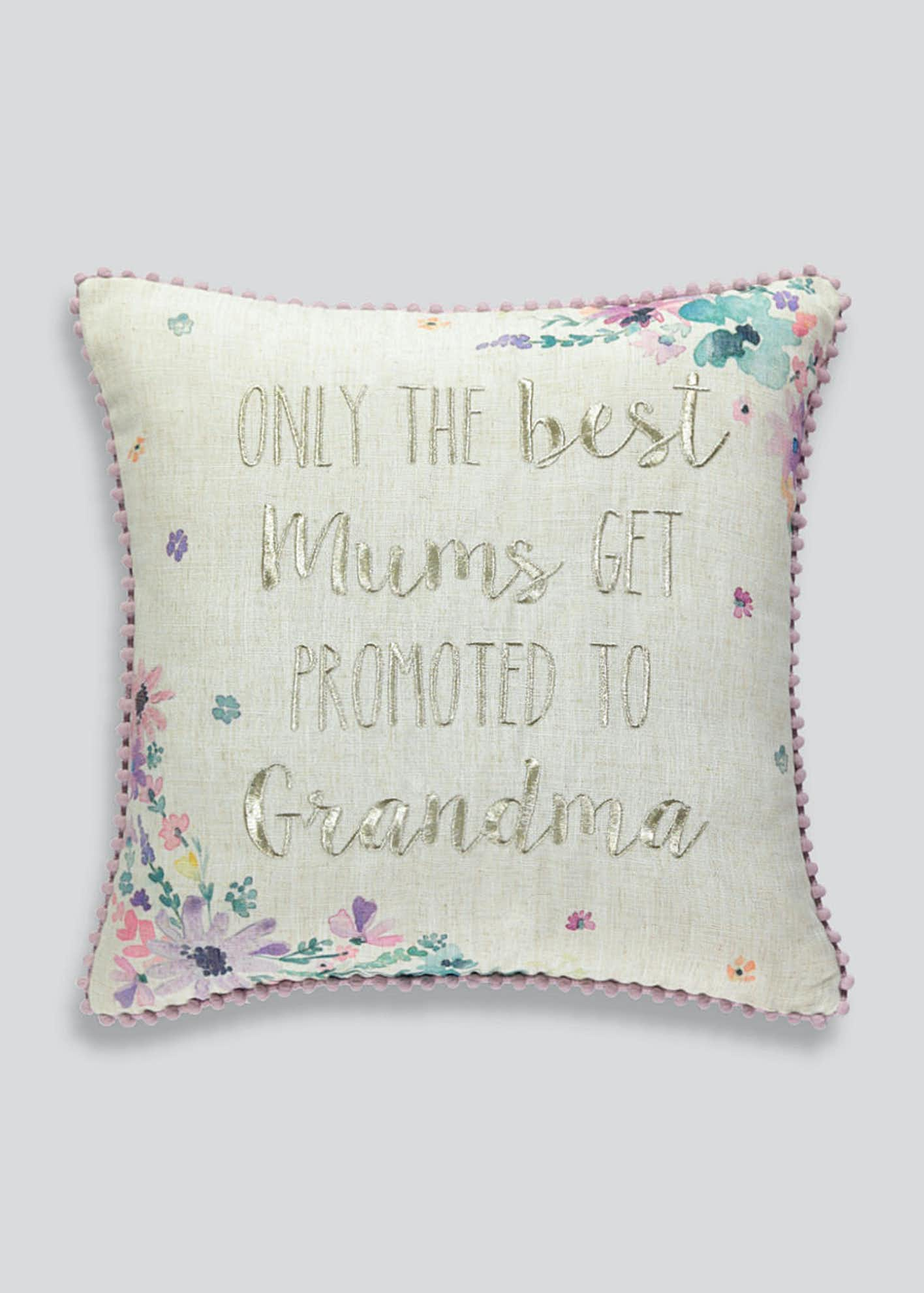 Grandma Embroidered Cushion (43cm x 43cm)