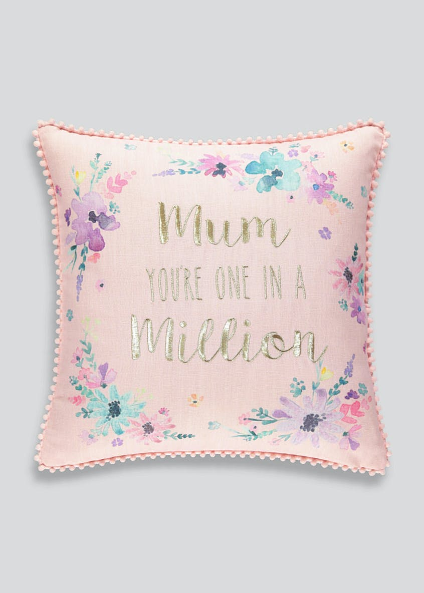 Mum Embroidered Cushion (43cm x 43cm)