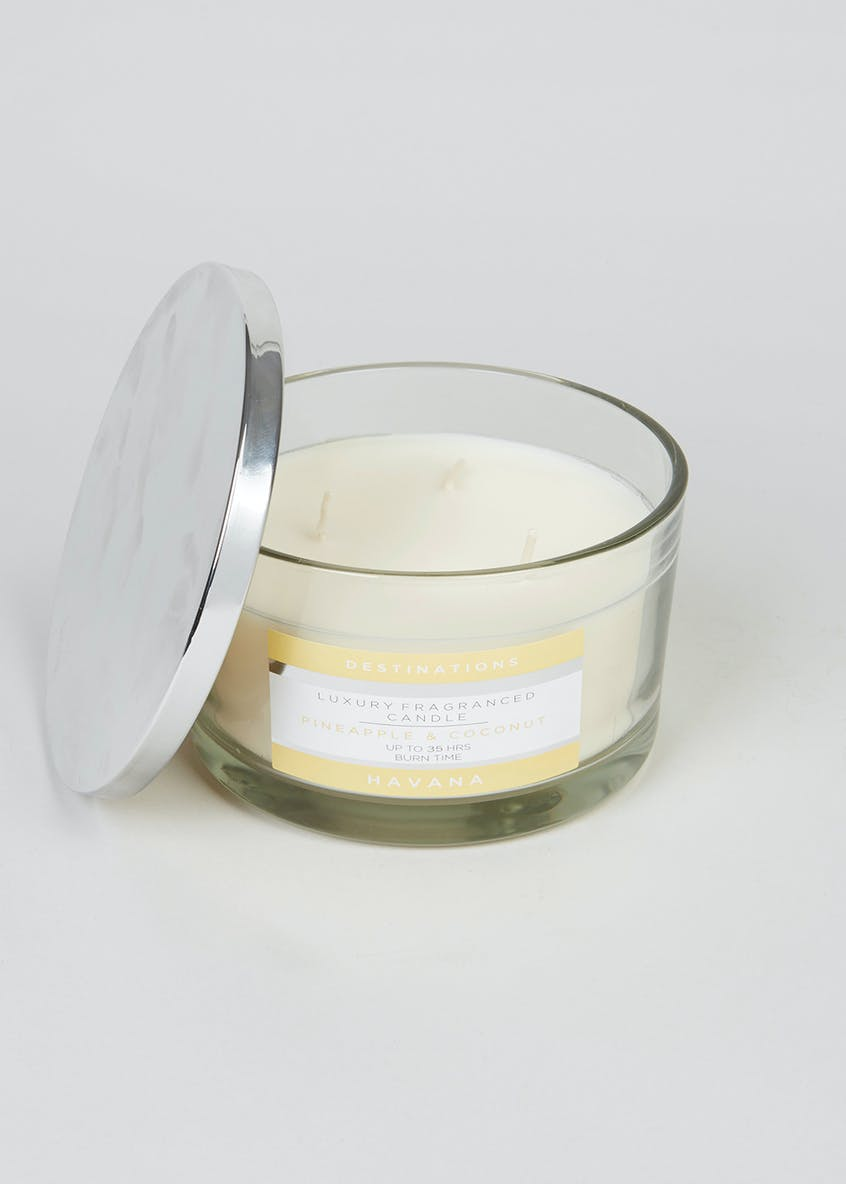 Pineapple & Coconut Destinations 3 Wick Candle