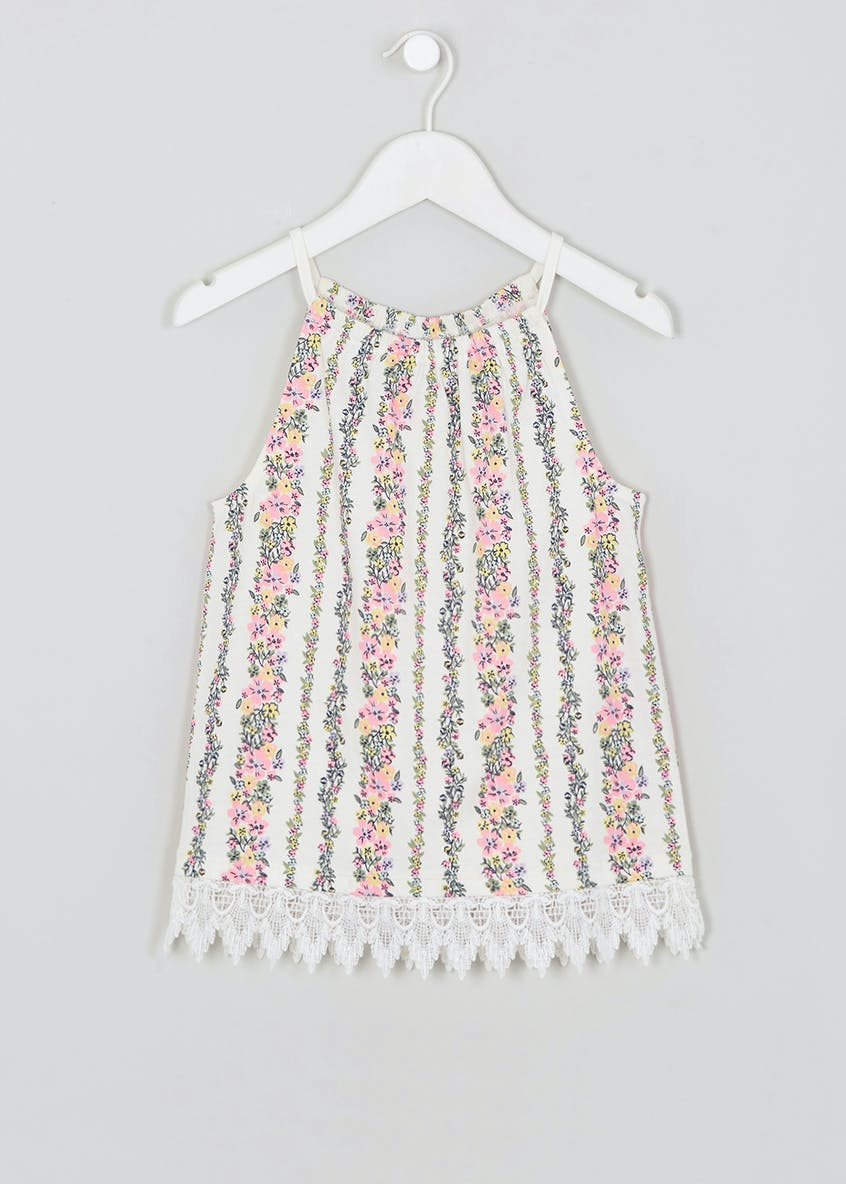 Girls Floral Halterneck Top (4-13yrs)
